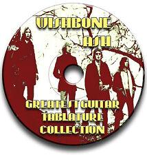 WISHBONE ASH ROCK GUITAR TAB TABLATURE SONG BOOK SOFTWARE CD