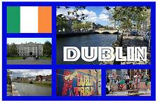 DUBLIN, REP DE IRLANDA - RECUERDO ORIGINAL IMÁN NEVERA - MONUMENTOS / CIUDADES