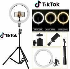 RING FILL LIGHT LED LUCE DI RIEMPIMENTO 10 POLLICI video tic toc selfie
