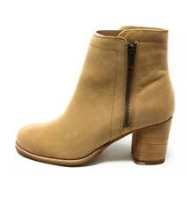 FRYE Addie Double Zip Leather Sand Tan Boots Booties W 7 NEW $358