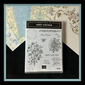 Stampin Up!  VERY VINTAGE Stamp Set & BEAU CHATEAU DSP .... so pretty!