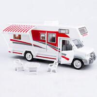 Luxury Camper Van Motorhome 1:28 Model Car Diecast Toy Vehicle Gift Red Kids