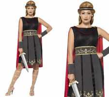 Roman Warrior Costume Spartan Gladiator Womens Fancy Dress Outfit UK 4-22