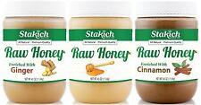 GIFT 40 oz Raw Honey + 40 oz Cinnamon Honey + 40 oz Ginger Honey Value Pack