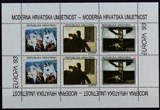 Kroatien 1993 postfrisch Kleinbogen MiNr. 240-242  Europa Zeitgenössische Kunst