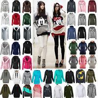 US Women Long Sleeve Hoodies Sweatshirt Pullover Hooded Sweater Coat Jacket Tops