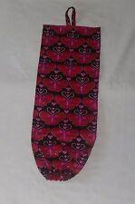 Pink/Red Butterflies Design Homemade Fabric Grocery Bag Holder