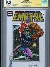 SUPER SKRULL Sketch cover art by BOB LAYTON CGC SS 9.8 Marvel Avengers FF