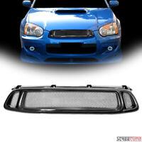 For 04-05 Subaru Impreza WRX JDM Blk Sport Aluminum Mesh Front Hood Grill Grille