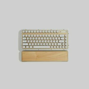 Azio Retro Compact Keyboard bundle palm rest ( Maple ) NEW