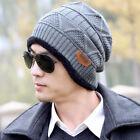 Men Women Knit Wool Baggy Cap Winter Warm Beanie Outdoor Hiphop Crochet Ski Hat