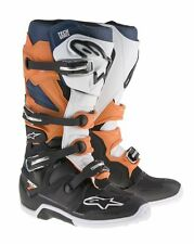 Stivali Moto Cross Enduro Alpinestars Tech 7 Mx Boots Nero / Arancio / Blu