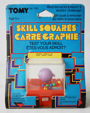 RARE VINTAGE 80'S TOMY SKILL SQUARES WIND UP MINI MOUTH GAME NEW SEALED NOS !