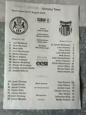 FOREST GREEN ROVERS v GRIMSBY TOWN 17.08.19 LEAGUE 2 TEAM SHEET