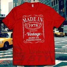 VINTAGE 1978 Aged To Perfection Camiseta 40 Regalo De Cumpleaños Hecho en