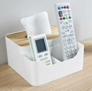 Desktop Storage Box Tissue Box Cover Storage Organizer Dispenser