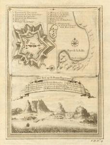 'Vue du Cap de Bonne-Espérance'. Cape Town. Table Bay. Good Hope BELLIN 1746 map