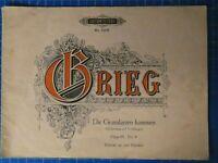 Grieg Die Gratulanten kommen Edition Peters No.3306 H-17951