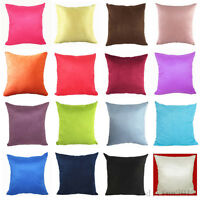 Suede Nap Cushion Cover Sofa Throw Pillow Case Home Decor Solid 20 Colors Newest
