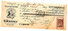 FRANCE BILLET à ORDRE MANDAT LYON 1898 + TIMBRE  BON ETAT