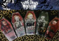 LIVING DEAD DOLLS LOT 5 RARE NOS Killbaby, Siren, Demonique, V. Vaude & Aracine