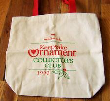 Hallmark Keepsake Ornament Collector's Club Canvas Tote Bag 1990 Unused