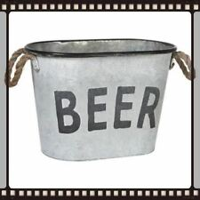 Vintage Retro Style Zinc Oval Beer Bucket