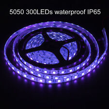 Blacklight UV Purple LED Flexible Strip Lights Waterproof IP65 SMD5050 300LEDs