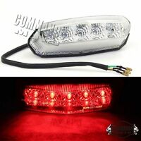Dirt Bike Clear LED Brake Rear Euro Tail Light Taillight E-Marked For Honda KTM