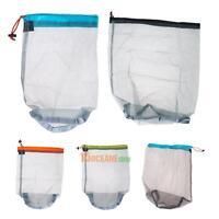 Portable Tavel Camping Sports Ultralight Mesh Stuff Sack Drawstring Storage Bag