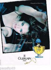 PUBLICITE ADVERTISING 065  1997  GUERLAIN parfum SHALIMAR par HELMUT NEWTON