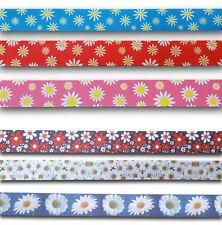 White Daisy Flower Grosgrain Ribbon 1 Yard *Buy1 get 1 half price* UK