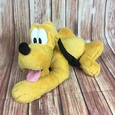 "Disney Store Pluto Plush 17"" Stuffed Animal Genuine Authentic Patch Mickey's Pal"