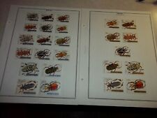 BURUNDI INSECTS BEETLES WEEVELS STAMPS Scott 306-21, C119-18 Used CTO AFRICA