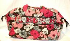 Vera Bradley Pink Brown Tote Weekend Workout Overnight Bag