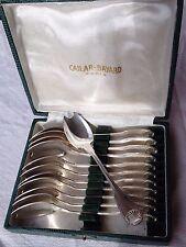 Rare :12 cuillères à huîtres en métal argenté modèle Coquille Cailar Bayard