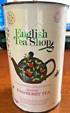English Tea Shop Organic Raspberry Tea 60 Tea Bags Zingy Black Tea 90g 3.17oz
