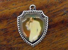Vintage silver TENNESSEE MEMPHIS ELVIS PRESLEY TRAVEL SHIELD charm RARE #E4