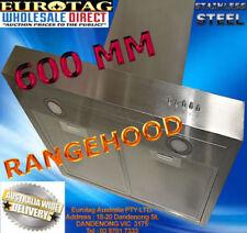 Stainless Steel/Glass Rangehoods 60cm Hood Width