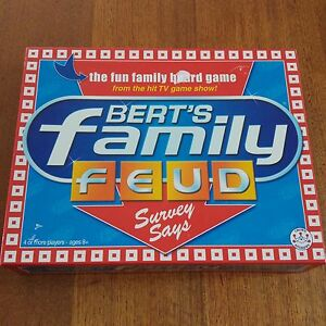 Bert's Family Feud Board Game 2006 Complete