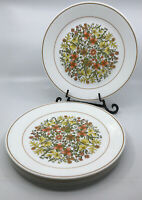 "Corelle Corning INDIAN SUMMER 10.25"" Dinner Plates Lot of 6 Orange Yellow Floral"