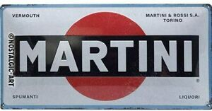 Martini Logo large embossed metal sign 500mm x 250mm (na)