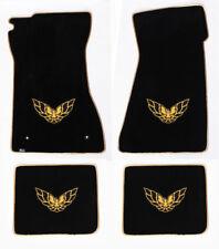 NEW! FLOOR MATS 1993-2002 PONTIAC FIREBIRD Embroidered Logo Gold w/ Gold Binding