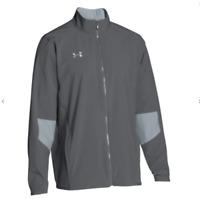 Under Armour Men's Graphite/Steel Squad Woven Warm-Up Jacket