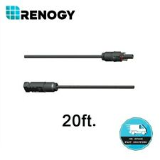 Renogy 20Ft Adaptor Kit PV Solar Cable AWG10 with MC4 Female and Male Connectors