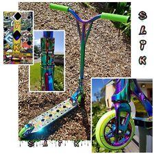 Slik Pro Scooter Oil Slick, Neo Chrome, Graffiti deck, light weight, strong