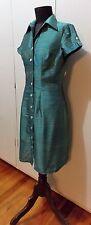 NEW Size XS Vietnamese Green Thai Silk Women's A Line Dress- 46cm Bust