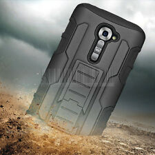 Armor Hybrid Impact Rugged Protective Holster Case Cover LG G2 VS980 VERIZON