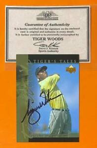 Tiger Woods RC 2001 Upper Deck Auto Autograph Rookie Card w/ COA