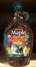 100% pure USDA organic maple syrup ECO CERT old fashioned maple crest 236 ml